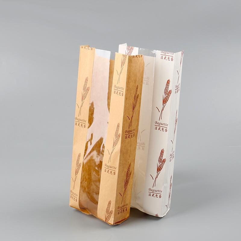 baguette kraft paper bread bag