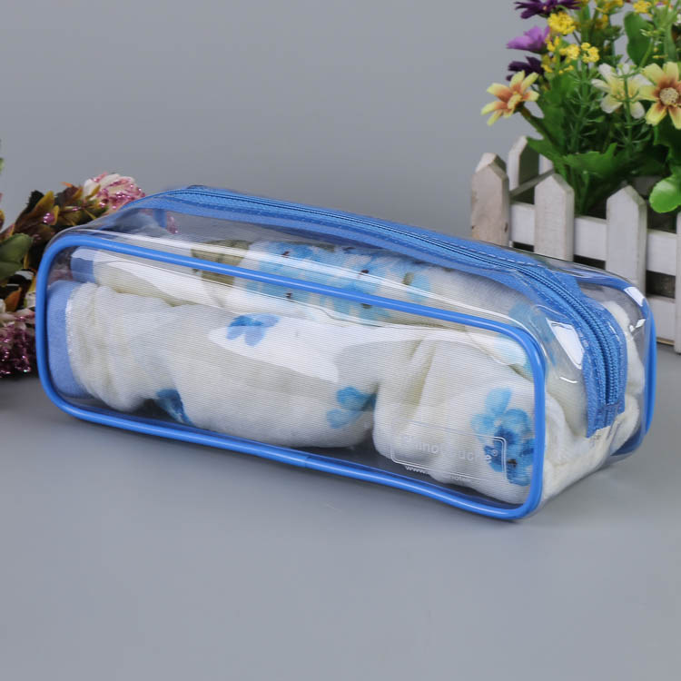 Custom plastic pvc toiletries zipper storage bag