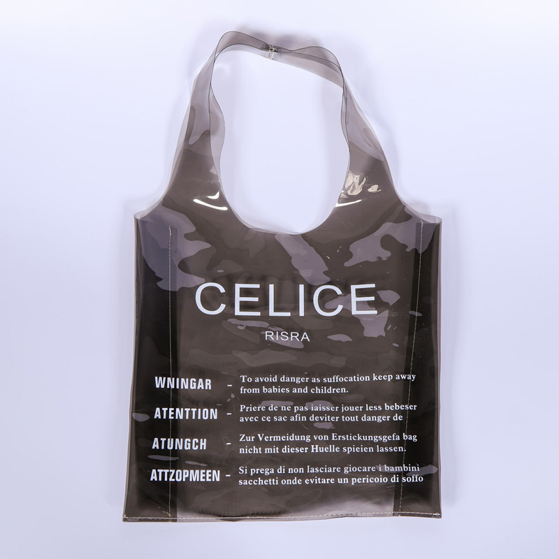 personality fashion small vest pvc tote bag