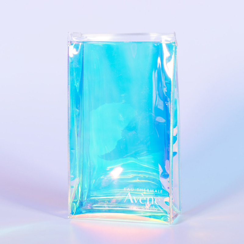 laser colorful translucent illusion PVC sewing PU edge