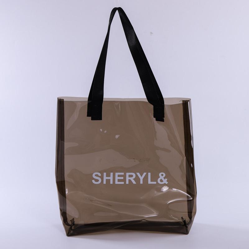 pvc fashion letter handbags wild large capacity shoulder bag
