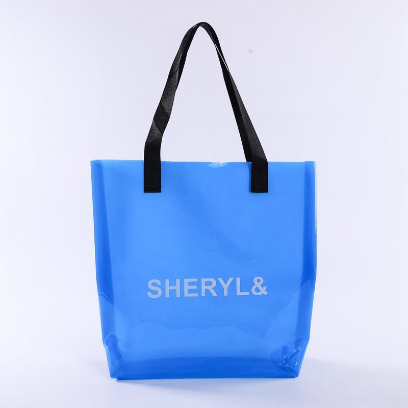 casual blue fashion transparent beach bag