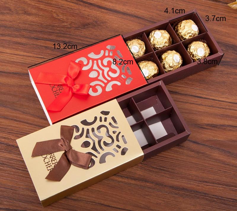 Hollow pattern drawer type packaging boxs
