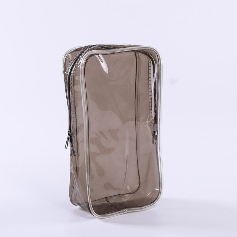Sewing plastic cosmetics gift bag
