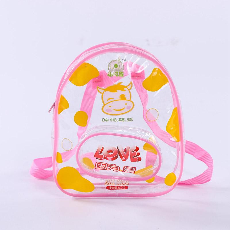 Custom transparent cartoon pvc children's bag