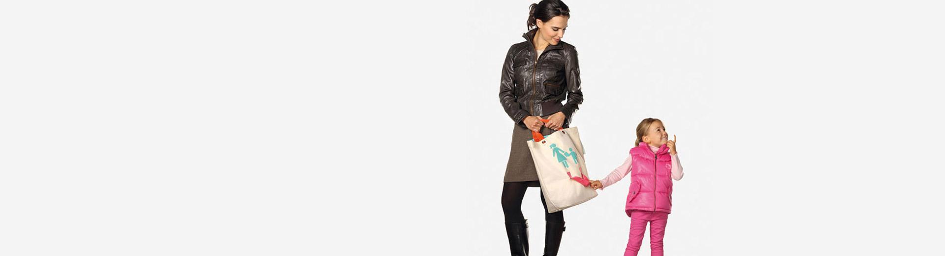 Parent-child cotton shopping bags