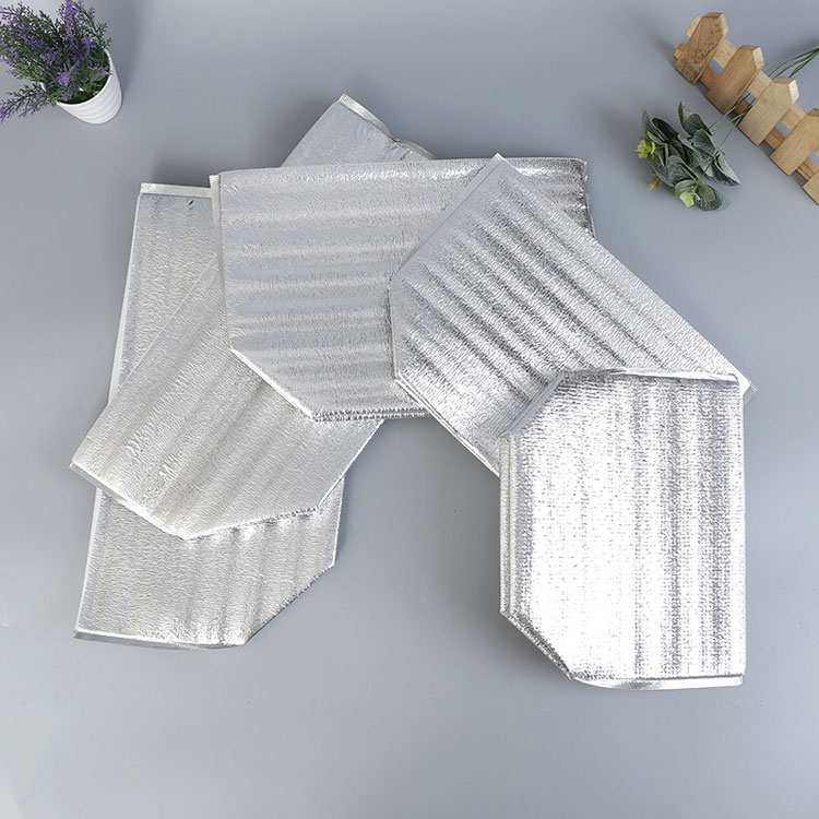 Aluminum foil square bottom solid fresh seafood insulated ice pack
