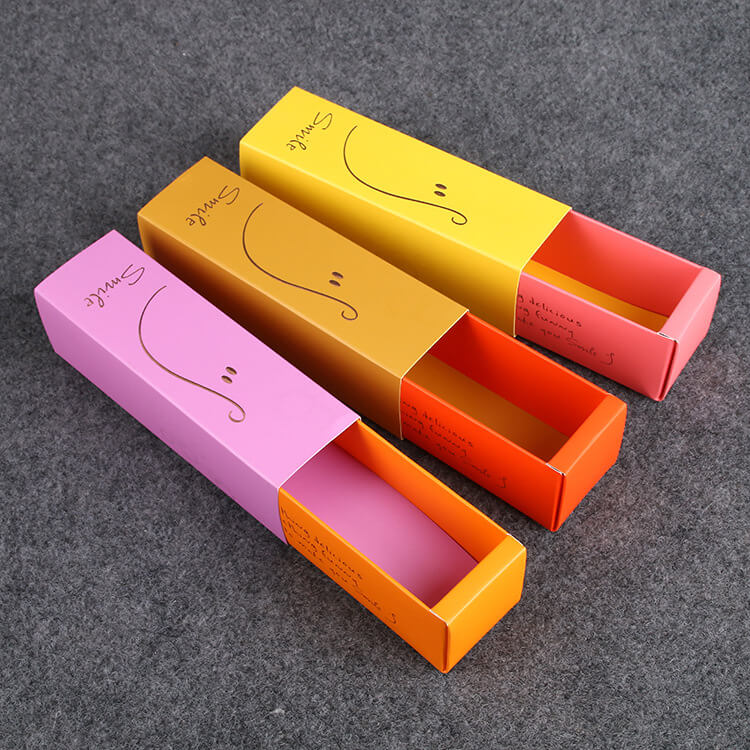 Color simple drawer type macaron biscuit box