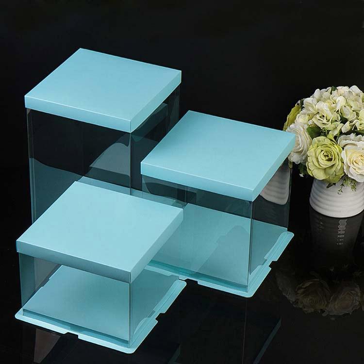 Custom wholesale transparent cake box