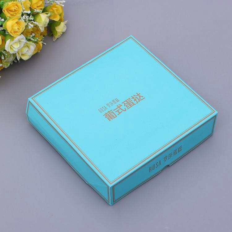 white cardboard egg tart box