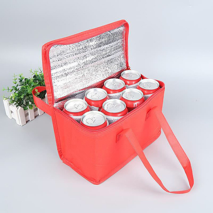 Direct sales large capacity insulation package non-woven ice bag picnic bag