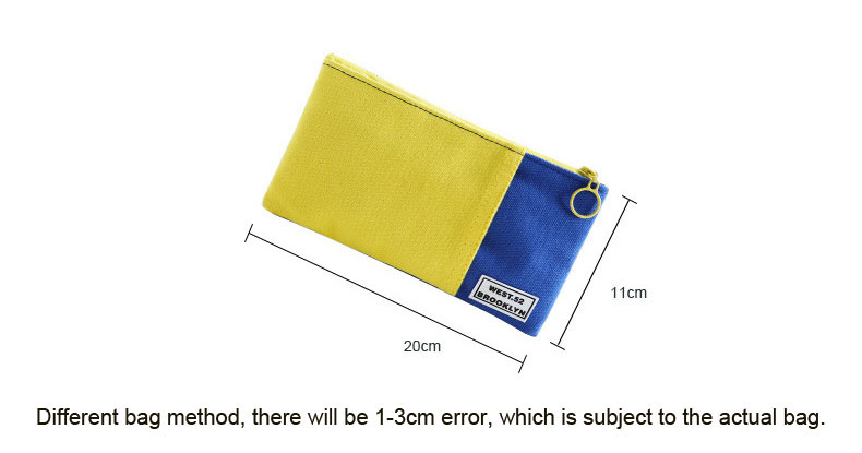 Fashion canvas handbag mobile phone bag color candy color pencil case