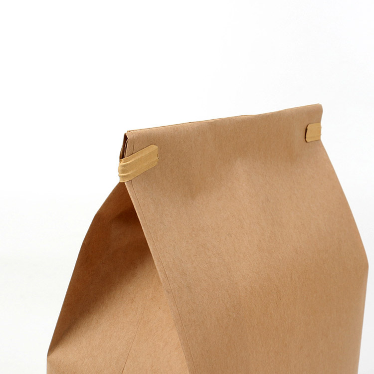 Kraft paper window self-supporting ziplock bag