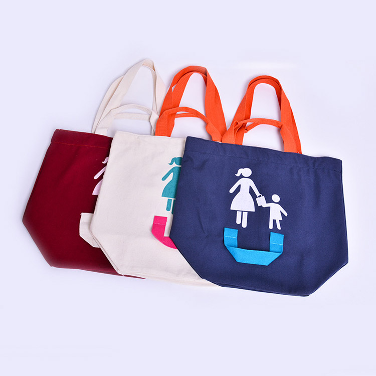 Parent-child cotton shopping bags wholesale