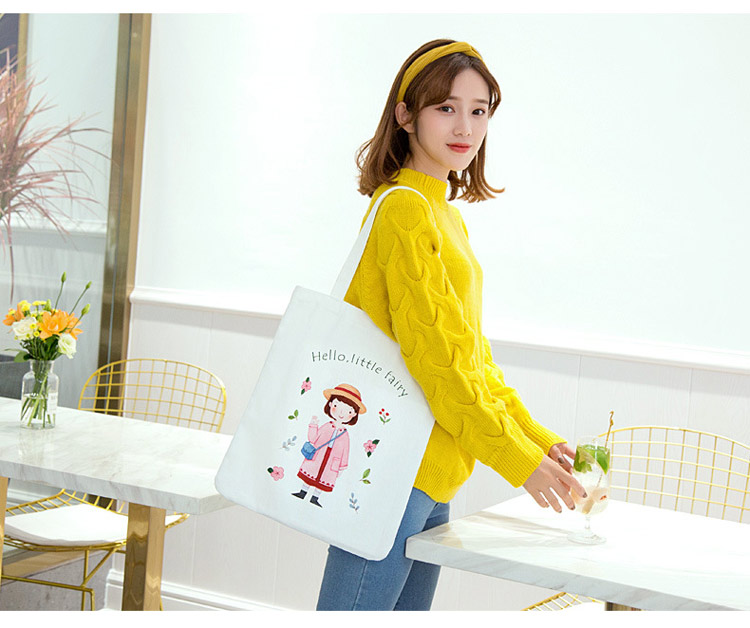 Printed canvas bag canvas bag female shoulde