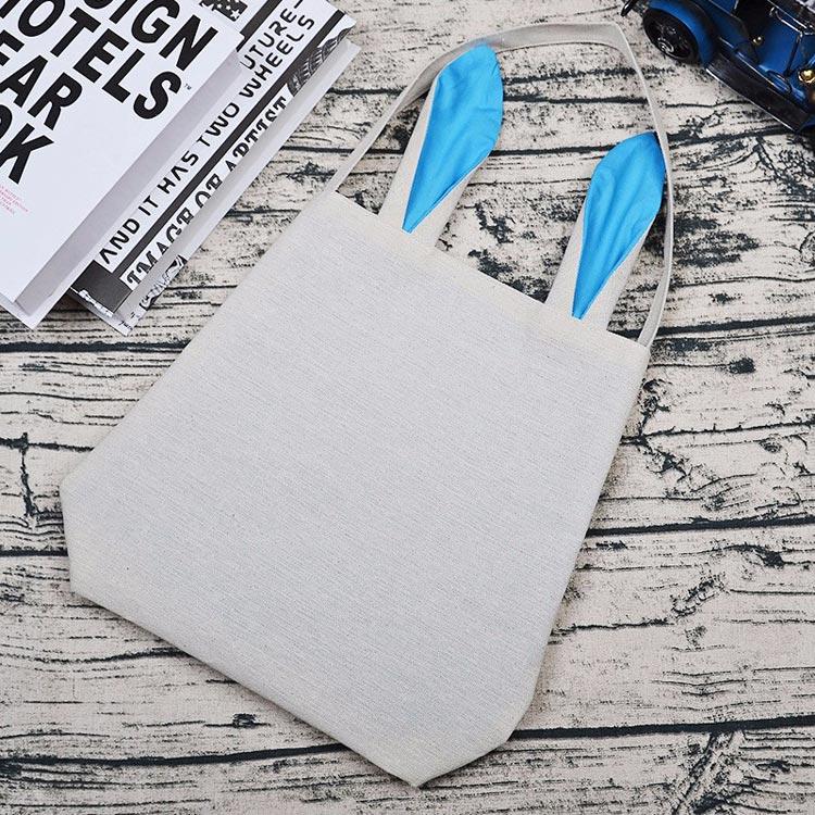 Rabbit ears cotton linen bag