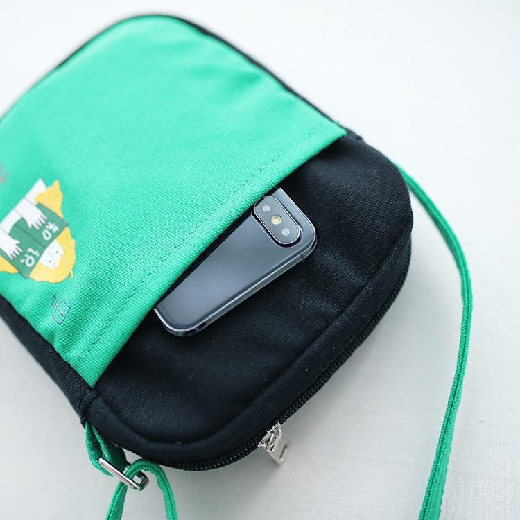 Small fresh literary canvas bag mobile phone bag wholesale