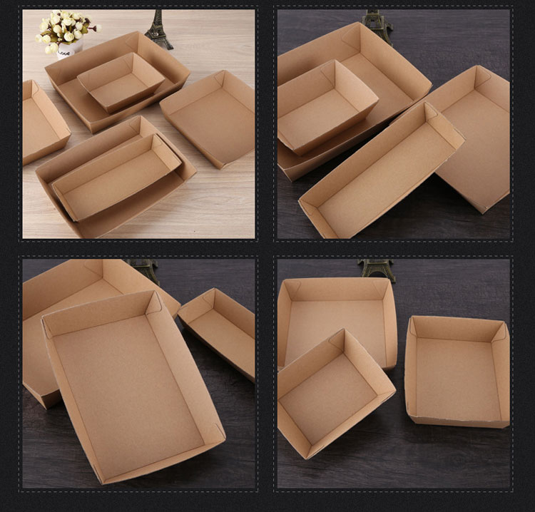 Spot wholesale open corrugated food take-away tray