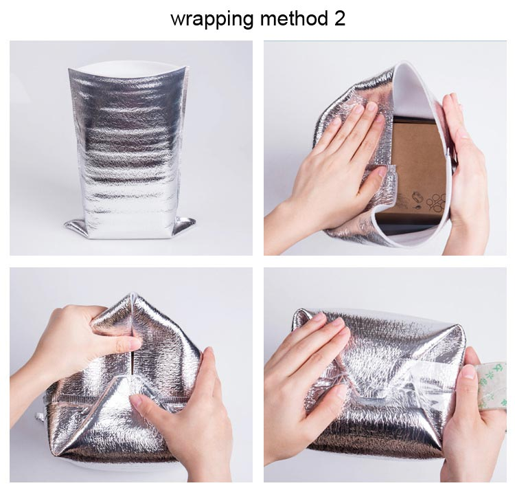 Takeaway food seafood rare aluminum foil bead cotton insulation package